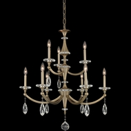 Allegri 012172-045-FR001 Floridia Matte Brushed Champagne Gold Lighting Chandelier