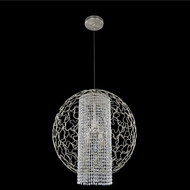 Allegri 020050-022-FR001 Mundo Chrome Firenze Clear 26  Hanging Lamp