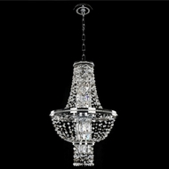 Allegri 020370-010-FR001 Capri Chrome Firenze Clear 18  Hanging Pendant Lighting