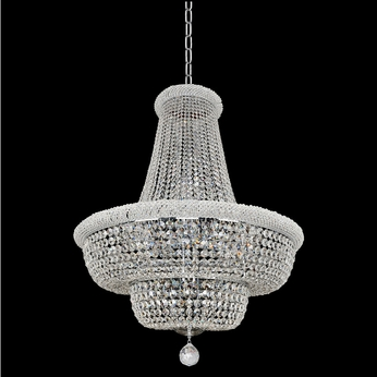 Allegri 020972-010-FR001 Napoli Polished Chrome Firenze Clear 34  Drop Lighting Fixture