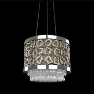 Allegri 022357-010-FR001 Carravagio Chrome Firenze Clear 24  Hanging Pendant Light
