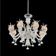 Allegri 027171-010-FR001 Artemisia Polished Chrome Firenze Clear 30  Ceiling Chandelier
