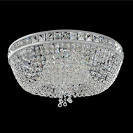 Allegri 027341-010-FR001 Cascata Chrome Firenze Clear 24  Flush Ceiling Light Fixture