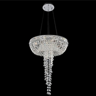 Allegri 027350-010-FR001 Cascata Chrome Firenze Clear 18  Pendant Hanging Light