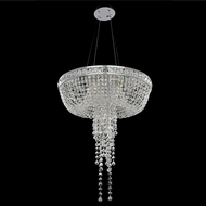 Allegri 027351-010-FR001 Cascata Chrome Firenze Clear 24  Hanging Light Fixture
