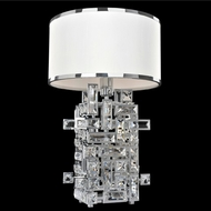 Allegri 027600-010-FR001 Vermeer Chrome Firenze Clear Table Lamp