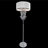 Allegri 027601-010-FR001 Vermeer Chrome Firenze Clear Floor Lamp
