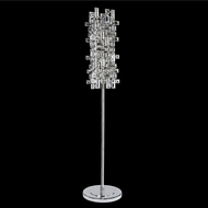 Allegri 027602-010-FR001 Vermeer Chrome Firenze Clear Floor Light