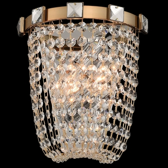 Allegri 027920-038-FR001 Impero Brushed Champagne Gold Wall Lighting
