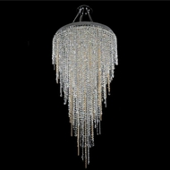 Allegri 028252-010-FR001 Tenuta Chrome Firenze Clear Halogen 32  Ceiling Pendant Light