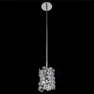 Allegri 028950-010-FR001 Dolo Chrome Firenze Clear Halogen Mini Hanging Light