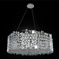 Allegri 028954-010-FR001 Dolo Chrome Firenze Clear 32  Hanging Pendant Lighting