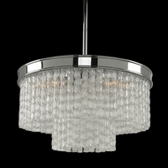 Allegri 029541 Savena Contemporary Chrome 18  Drum Hanging Light Fixture