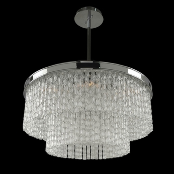 Allegri 029542 Savena Modern Chrome 25  Drum Drop Lighting