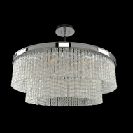 Allegri 029543 Savena Contemporary Chrome 32  Drum Drop Ceiling Lighting