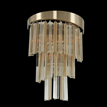 Allegri 029820 Espirali Brushed Champagne Gold Lighting Wall Sconce