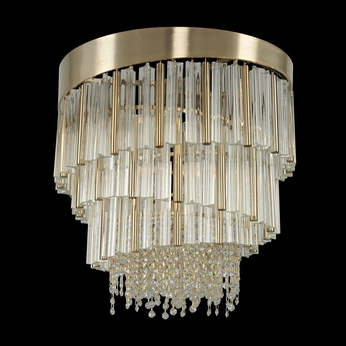 Allegri 029850 Espirali Brushed Champagne Gold Flush Mount Lighting