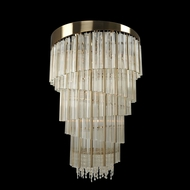 Allegri 029852 Espirali Brushed Champagne Gold Foyer Light Fixture