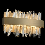 Allegri 030230-038 Glacier Brushed Champagne Gold LED 12  Bathroom Lighting