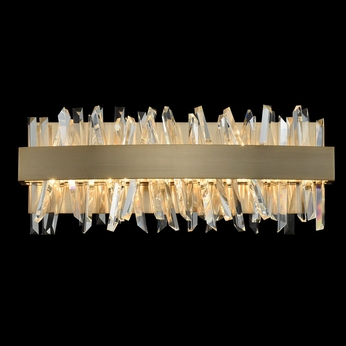 Allegri 030231-038 Glacier Brushed Champagne Gold LED 18  Lighting For Bathroom