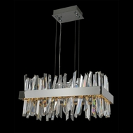 Allegri 030251 Glacier Modern Chrome LED Island Light Fixture