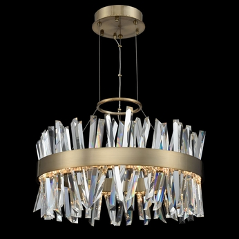 Allegri 030254-038 Glacier Brushed Champagne Gold LED 25  Lighting Pendant