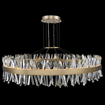 Allegri 030257-038 Glacier Brushed Champagne Gold LED 60  Hanging Light