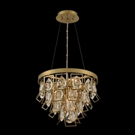 Allegri 031950-039-FR001 Carmella Brushed Brass Hanging Pendant Lighting / Ceiling Light