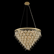 Allegri 031951-039-FR001 Carmella Brushed Brass Pendant Hanging Light / Ceiling Lighting Fixture