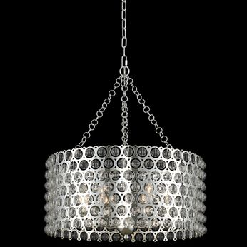 Allegri 032251-014 Vita Contemporary Polished Silver 26  Drum Pendant Lighting