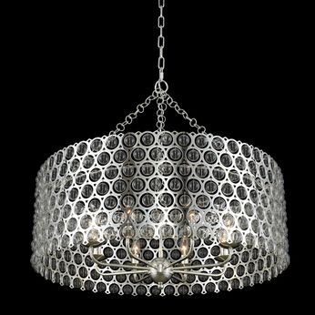 Allegri 032252-014 Vita Modern Polished Silver 32  Drum Pendant Light