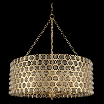 Allegri 032252-038-FR001 Vita Brushed Champagne Gold 32  Drum Drop Ceiling Light Fixture