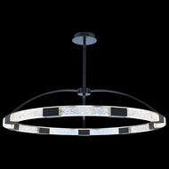 Allegri 034852-051-FR001 Athena Matte Black w/ Polished Nickel LED Hanging Pendant Lighting