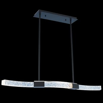Allegri 034860-051-FR001 Athena Matte Black w/ Polished Nickel LED Kitchen Island Lighting