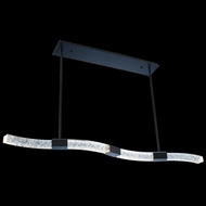 Allegri 034861-051-FR001 Athena Matte Black w/ Polished Nickel LED Kitchen Island Light