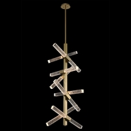 Allegri 034950-038-FR001 Apollo Brushed Champagne Gold LED Hanging Pendant Light