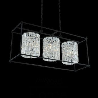 Allegri 036160-052-FR001 Joni Matte Black Island Light Fixture