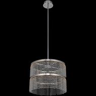 Allegri 036255-010-FR001 Cortina Contemporary Chrome LED Drum Pendant Lighting