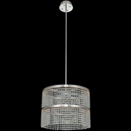 Allegri 036256-010-FR001 Cortina Modern Chrome LED Drum Lighting Pendant