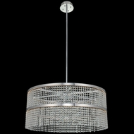 Allegri 036257-010-FR001 Cortina Contemporary Chrome LED Drum Pendant Lamp