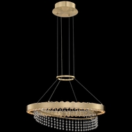 Allegri 036355-039-FR001 Saturno Contemporary Brushed Brass LED Pendant Light
