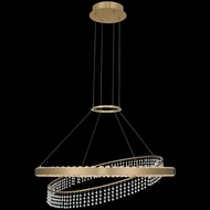 Allegri 036356-039-FR001 Saturno Modern Brushed Brass LED Hanging Lamp