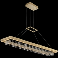 Allegri 036361-039-FR001 Saturno Modern Brushed Brass LED Kitchen Island Lighting