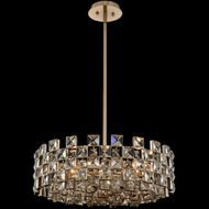 Allegri 036656-038-FR001 Piazze Brushed Champagne Gold Drum Drop Ceiling Light Fixture