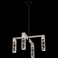 Allegri 036771-051-FR001 Serres Matte Black and Polished Nickel LED Mini Chandelier Light