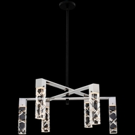 Allegri 036772-051-FR001 Serres Matte Black and Polished Nickel LED 28  Chandelier Lighting