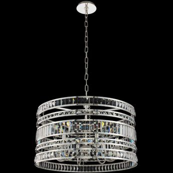 Allegri 037055-014-FR001 Strato Polished Silver 26  Drum Pendant Lamp