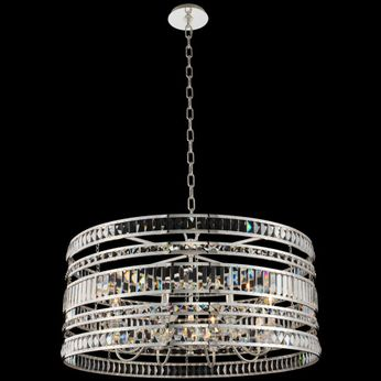 Allegri 037056-014-FR001 Strato Polished Silver 32 Drum Hanging Lamp