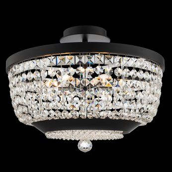 Allegri 037345-052-FR001 Terzo Matte Black with Polished Chrome Ceiling Lighting