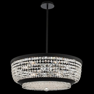 Allegri 037355-052-FR001 Terzo Matte Black with Polished Chrome Drop Ceiling Lighting